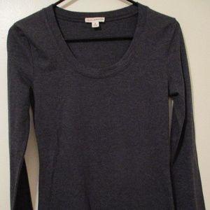 Zenana Outfitters Women's Dk Gray Long Sleeve Top
